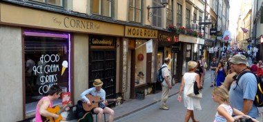 Some jazzy tunes in Stockholm Old Town