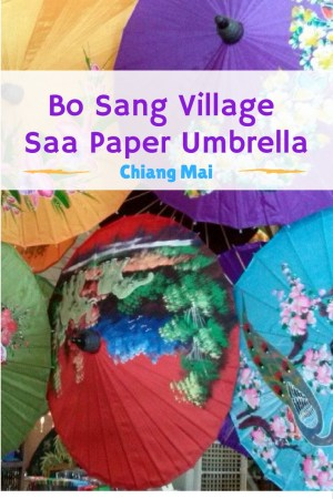 Bo Sang Village Saa Paper Umbrella Making Chiang Mai