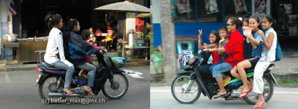 Mopeds in Thailand