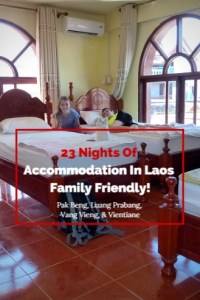 23 nights accommodation in Laos