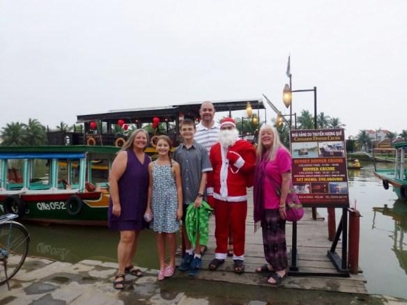 Christmas Eve 2014 Hoi An Vietnam Cinnamon Cruises