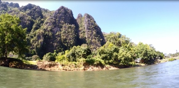 Limestone Mountains Vang Vieng