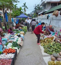 The morning market.