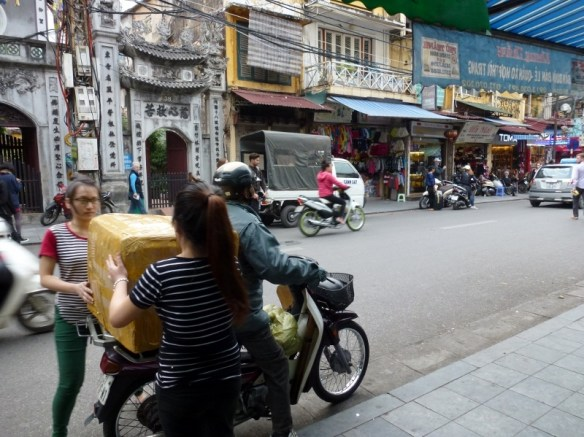 Scooting Around Hanoi - package delivery