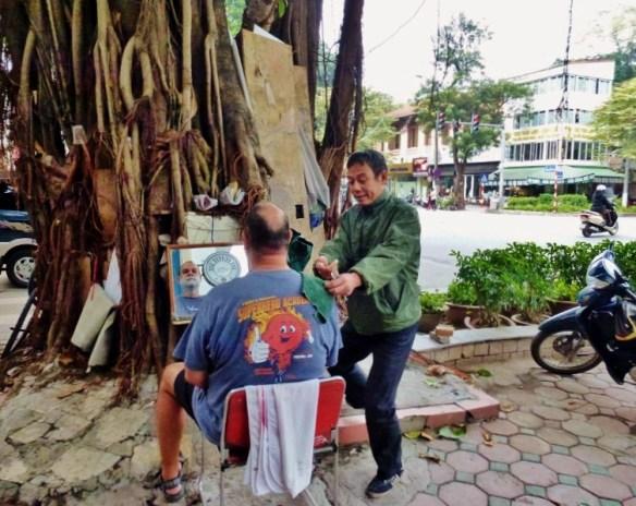 Shave Hanoi Vietnam lather up