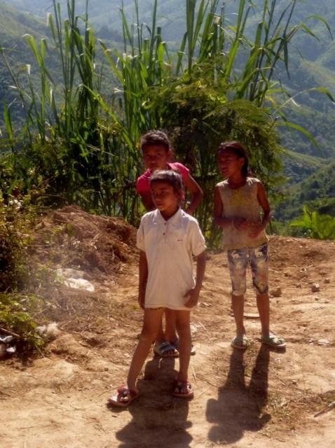 VIP Bus Laos local kids