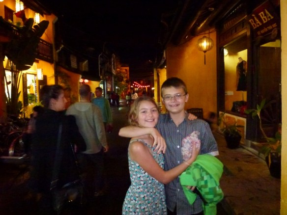 Lars and Anya in Hoi An Vietnam