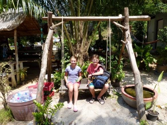 Koh-Phangan-Scooter-Day-Kids-at-Paradise-Waterfall