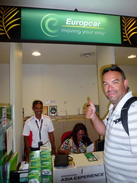 EuropCar Malaysia - Penang Airport Rental Counter