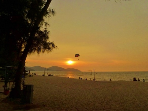 Golden Sands Resort Penang Parasailing and Sunset