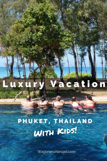 Luxury Family Vacation in Phuket Thailand with kids!  Marriott's Phuket Beach Club.  Read more on WagonersAbroad.com