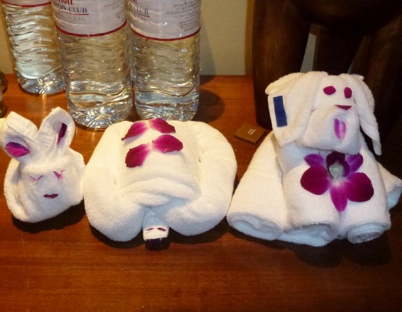 Towel Animals Phuket Thailand Feb 2015