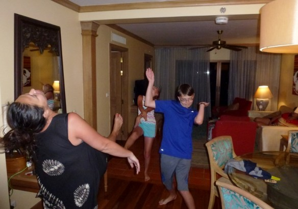 Phuket Thailand Feb 2015 Dancing with Mel