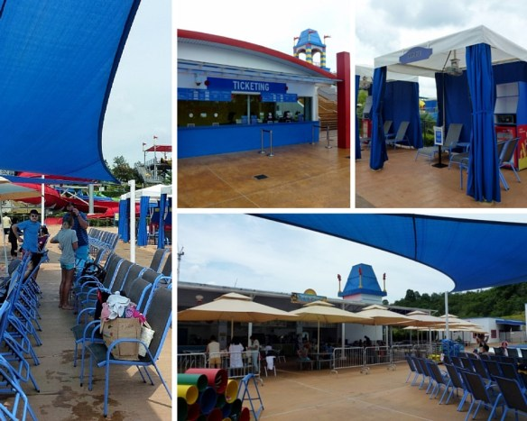 Legoland Water Park Johor Bahru Malaysia Dining, Cabana, Ticketing and Shade
