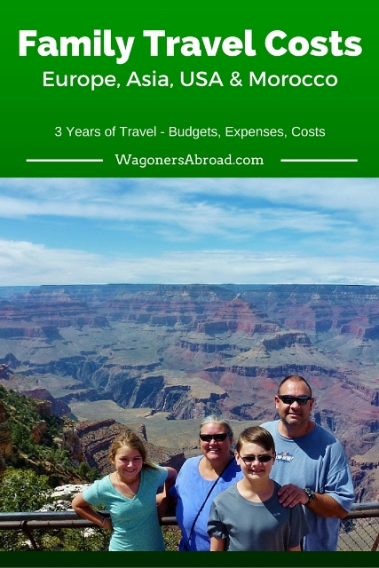 Family Travel Costs and Expenses- 3 years of travel in Europe, Asia, USA and Morocco. see the details on WagonersAbroad.com