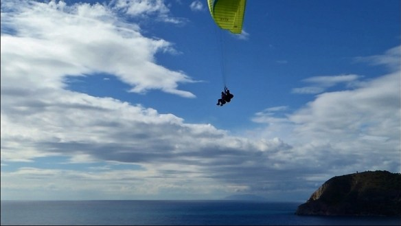 Adventures with Anya Tandem Paragliding in La Herradura Spain. Enjoying the peaceful flight.