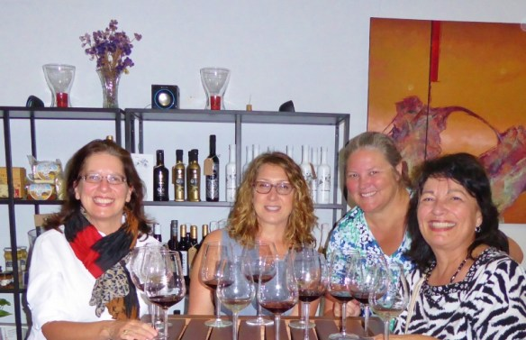 Girls day out in Malaga on the Devour Malaga Food Tour. Wine tasting at Mainake
