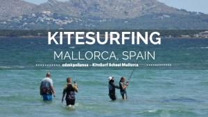 Learning to Kitesurf Mallorca Spain - Alcudia, Puerto Pollensa, Kiteboarding. Read more on WagonersAbroad.com