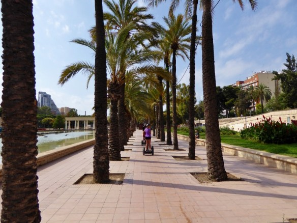 Segway tour Valencia in the park