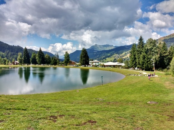 Lake near Les Gets Downhill-mountain-bike-Morzine