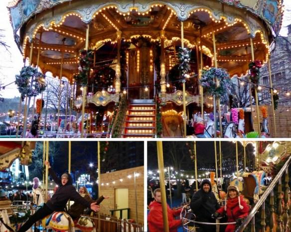 Edinburgh Christmas Ride - double carousel collage