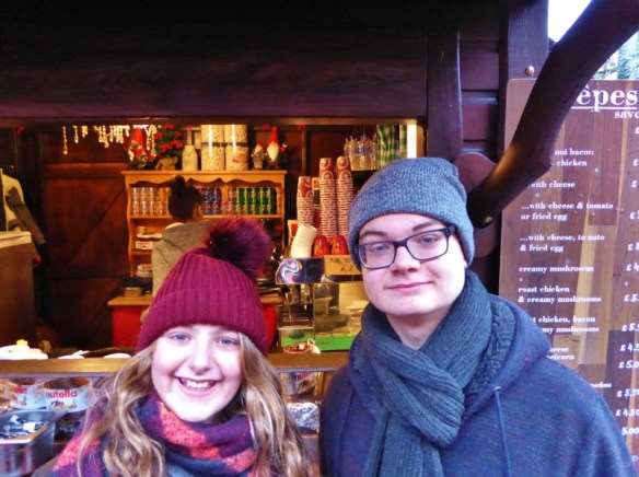 Edinburgh Scotland Christmas Markets and City crepes