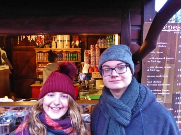 Edinburgh Scotland Christmas Markets and City crepes