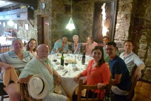 Pueblo Espanol group photo at lunch