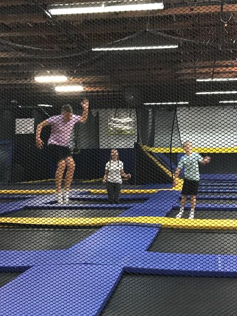 Jumping at the indoor Trampoline in St. George Utah