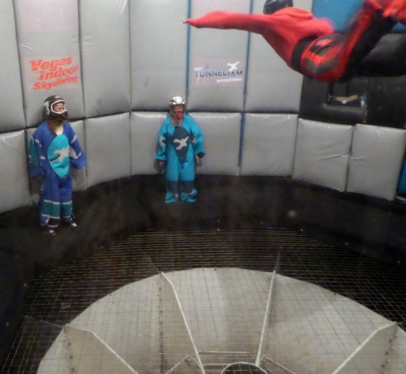 75th Birthday and 13th Birthday surprise with Las Vegas Indoor Skydiving