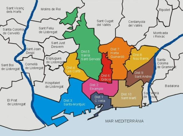 Best area to stay in Barcelona neighborhoods or districts. Read more on WagonersAbroad.com Photo credit from wikipedia