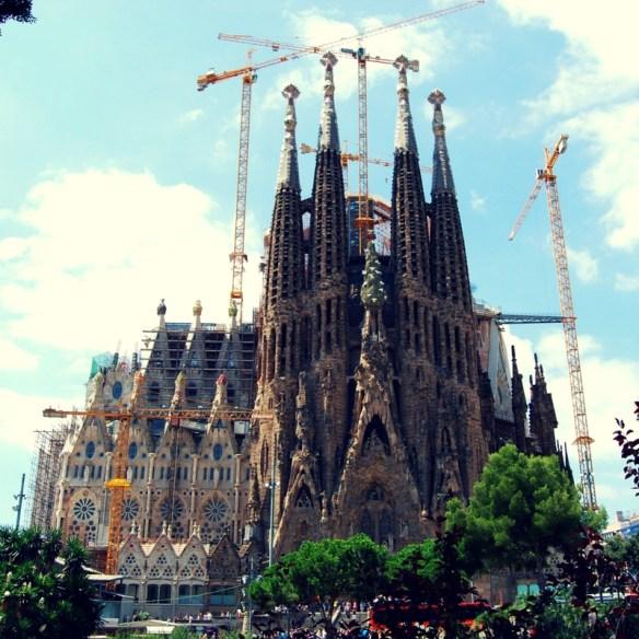 Gaudí's ongoing masterpiece, La Sagrada Família Barcelona