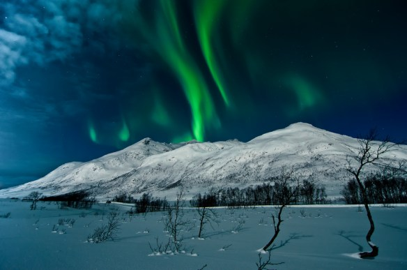 Northern lights in Tromsø Norway-Aurora Borealis. photo credit Andi Gentsch at https://www.flickr.com/photos/elgentscho/8447868825