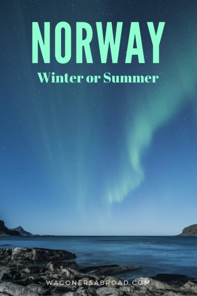Which Is Best, A Winter Or Summer Norway Vacation. Researching for a Norway vacation and trying to figure out if it is best to visit Norway in the winter or the summer. Maybe it is best just to do both? Read more on WagonersAbroad.com