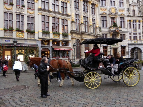 Brussels grand place horse and carriage