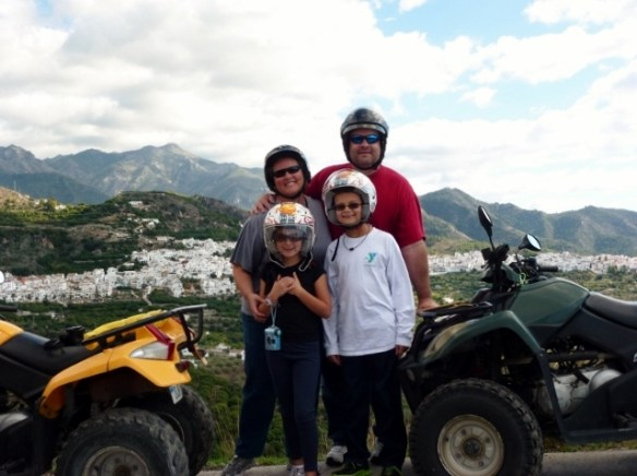 Our first year in Spain. Frigiliana Spain - Quad Bikes WagonersAbroad