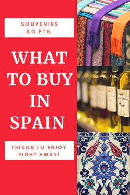 What To Buy In Spain, Souvenirs, Gifts & Things To Enjoy Right Away! If you aren't sure what to buy in Spain, here's a great list for you.  From things to buy in Spain as souvenirs, as well as things to buy as gifts from Spain too. What's Spain famous for?  We're about to tell you. Read more on WagonersAbroad.com