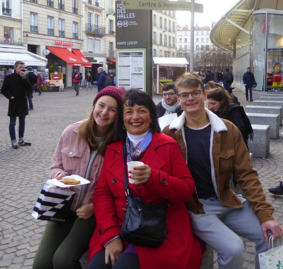 Hot chocolate and crepes at the Christmas Market in Les Halles