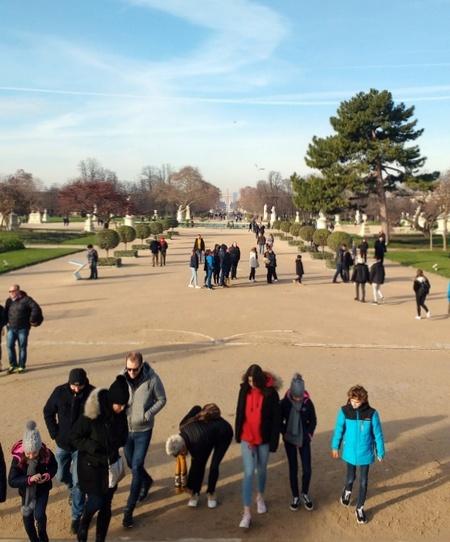 Carrousel Arc de Triomphe in the park near the Louvre Paris