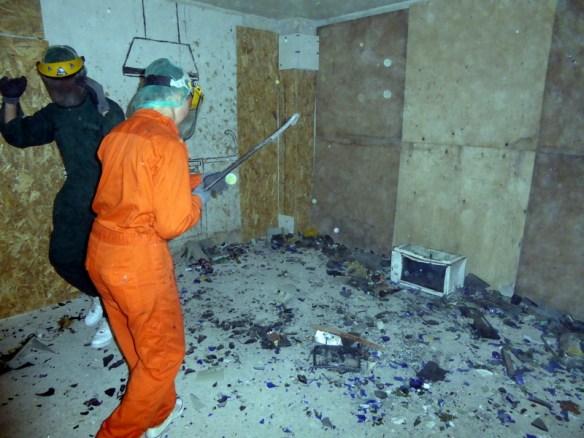 Limba Rage Room Athens Anya having a smashing time