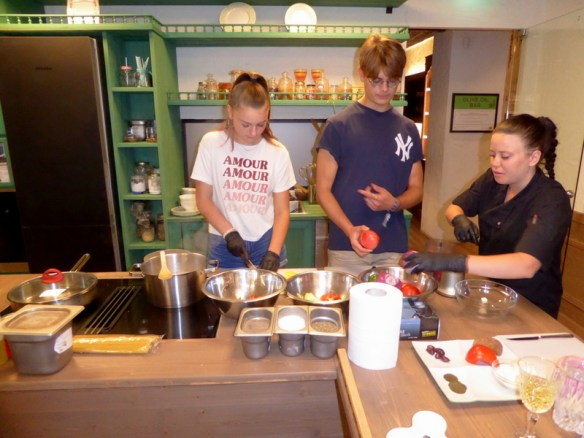 One of the things I really liked about the experience was that you could get as involved as you wanted in cooking the main dishes.