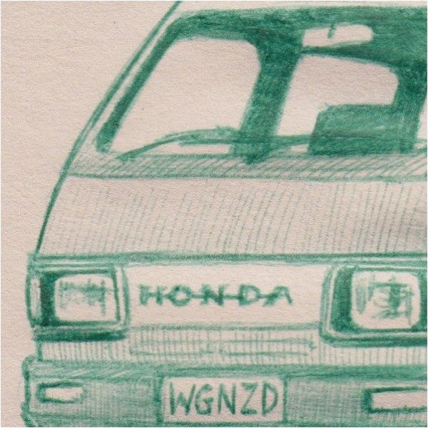 Honda van (detail)