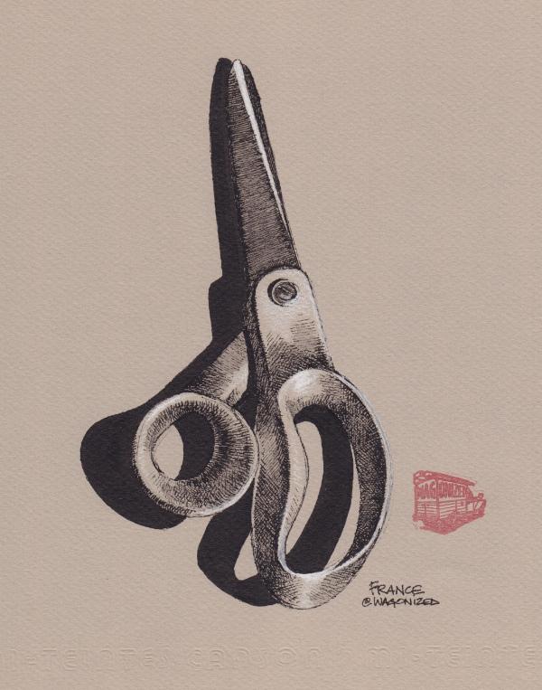 Scissor   original drawing