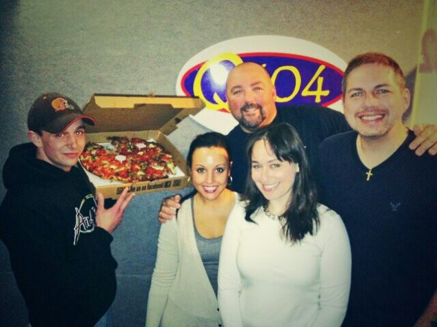 Special Thanks To Q104, Allan Fee, Carly McCord, Glenn Anderson, Woody Justik & Angelo's Pizza! Yum!