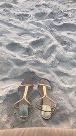 Sandals and sand
