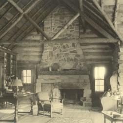 Inside Wahkeena lodge, 1956