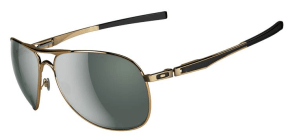 $250 Oakley Plaintiff SKU# OO4057-02 Polished Gold/Dark Grey