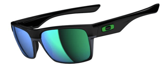 New! $250 Oakley Two FaceSKU# OO9189-04 Polished Black/Jade Iridium