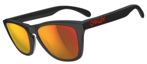 $210 Oakley FROGSKINS® LX SKU# OO2043-02 Color: Matte Black/Ruby Iridium