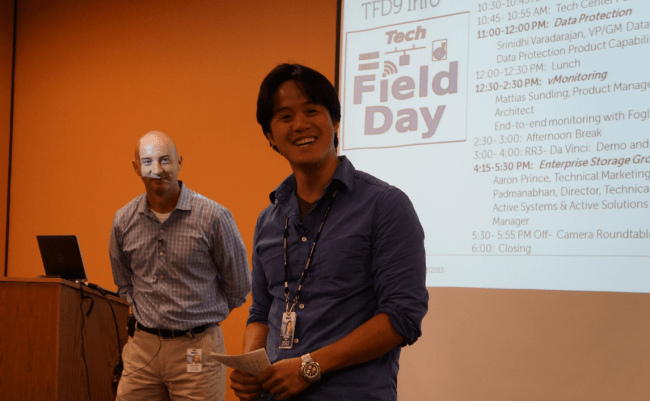Jeff Sullivan and Peter Tsai from the Dell Tech Center